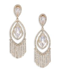 Adriana Orsini | Metallic Embraced Crystal Chandelier Earrings | Lyst