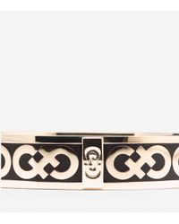 Cole Haan | Black Enamel Logo Round Bangle | Lyst