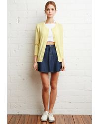 Forever 21 | Yellow Classic Knit Cardigan | Lyst