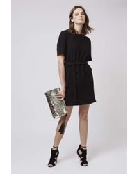TOPSHOP - Black Pocket Shift Dress - Lyst