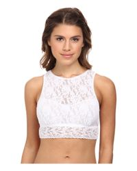 Hanky Panky - White Signature Lace Crop Tank Top - Lyst