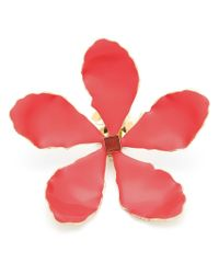 Rosie Assoulin - Red Oversized Enamel Flower Earrings - Lyst