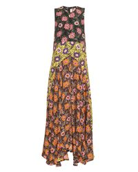 Marni | Multicolor Asticon-Print Crepe Maxi Dress | Lyst