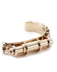 Givenchy - Metallic 'obsedia' Bar Cuff - Lyst