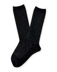 Aéropostale | Black Chevron Knit Boot Socks | Lyst