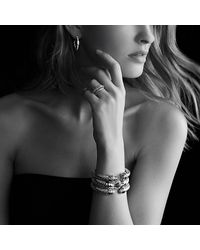 David Yurman | Metallic Cable Classics Pavé Tip Bracelet With Diamonds | Lyst