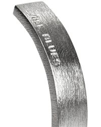 All_blues   Metallic Brushed Sterling Silver Bangle for Men   Lyst