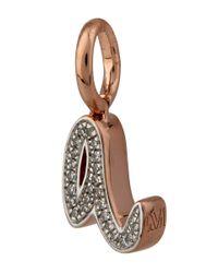 Monica Vinader - Metallic Rose Gold-plated Alphabet Diamond A Pendant - Lyst