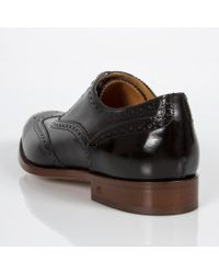 Paul Smith - Men's Black Leather 'christo' Brogues for Men - Lyst