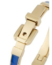 Michael Kors | Blue And Gold Tone Bangle | Lyst