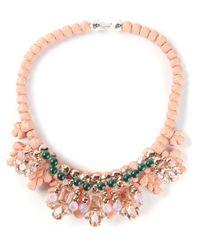 EK Thongprasert - Pink 'Jete Entrelace' Necklace - Lyst