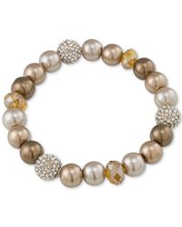 Carolee - Metallic Top Of The Rock Gold-tone Beaded Stretch Bracelet - Lyst