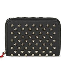 Christian Louboutin | Black Panettone Coin Purse Calf/spikes | Lyst