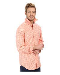 Vineyard Vines | Orange Seascape Gingham Tucker Shirt for Men | Lyst