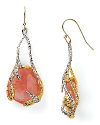 Alexis - Red Bittar Floral Suspended Cherry Earrings - Lyst