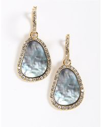 ABS By Allen Schwartz | Blue Pave Hoop Drop Earrings | Lyst