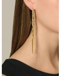 Puro Iosselliani | Metallic Tangled Long Earrings | Lyst