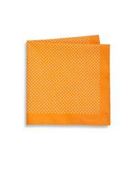 Saks Fifth Avenue | Orange Dot Print Pocket Square for Men | Lyst