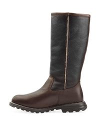 UGG - Brooks Tall Two-tone Leather Knee Boots - Brown - Lyst