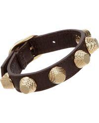Balenciaga - Metallic Arena Giant Stud Bracelet - Lyst