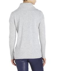 Magaschoni | Gray Cowl Neck Cashmere Sweater | Lyst