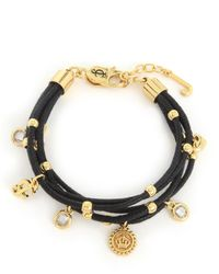 Juicy Couture | Black Multi Strand Iconic Bracelet | Lyst