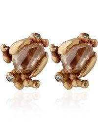 Ruth Tomlinson   Metallic Gold Champagne Diamond Stud Earrings   Lyst
