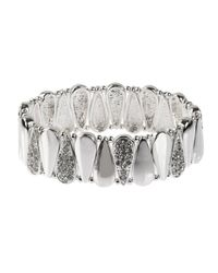 Nine West | Metallic Raindrops Silver Crystal Bracelet | Lyst
