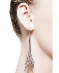 Sylva & Cie | Metallic Eiffel Earrings | Lyst