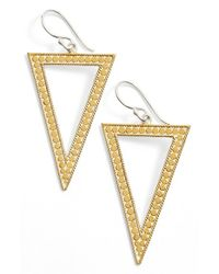 Anna Beck | Metallic 'gili' Open Triangle Drop Earrings | Lyst