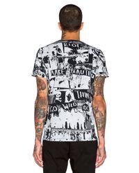 DIESEL | Black Print Crew Neck Regular Fit T-shirt for Men | Lyst