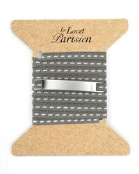 Ursul   Gray Le Lacet Parisien Grey Cotton Lace-up Bracelet for Men   Lyst