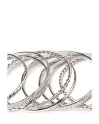 Forever 21 | Metallic Mixed Textured Bangles | Lyst
