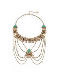 Adia Kibur | Metallic Victoria Necklace - Gold/turquoise | Lyst