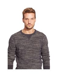 Denim & Supply Ralph Lauren - Gray Cotton Crewneck Sweater for Men - Lyst