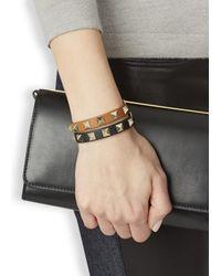 Valentino | Rockstud Mini Black Leather Bracelet | Lyst