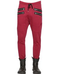 Markus Lupfer - Red Heavy Cotton Jersey Jogging Trousers for Men - Lyst