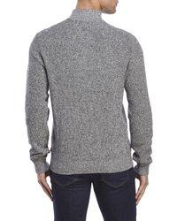 Izod - Gray Main Street Marled Quarter-Zip Sweater for Men - Lyst