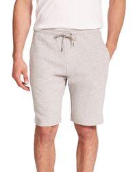 Derek Rose - Gray Devon Cotton Sweat Shorts for Men - Lyst