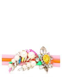 Shourouk | Pink Tube Bracelet | Lyst