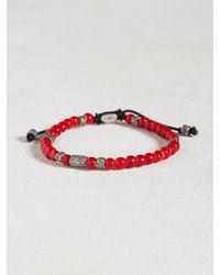 John Varvatos - Red African Glass Beaded Bracelet for Men - Lyst