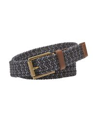 Fossil | Blue Jeffrey Braided Leather-trimmed Belt for Men | Lyst