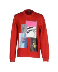 Raf Simons - Red Sweatshirt for Men - Lyst