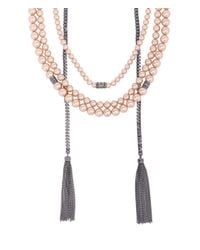 Henri Bendel - Pink Nolita Pearl Layered Necklace - Lyst