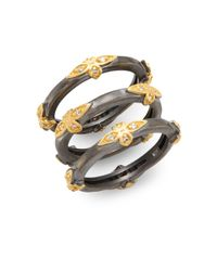 Freida Rothman | Metallic Byzantine Two-tone Stacked Ring Set | Lyst
