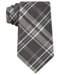DKNY - Gray Oversized Plaid Slim Tie for Men - Lyst