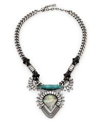 DANNIJO - Metallic Arley Pendant Necklace - Lyst