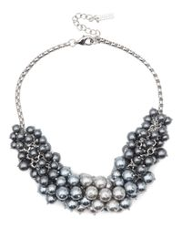 Jaeger | Gray Pearl Cluster Necklace | Lyst