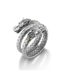 John Hardy - Metallic Naga Double Coil Bracelet - Lyst