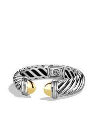 David Yurman - Metallic Waverly Bracelet With Gold, 7mm - Lyst